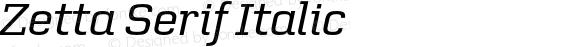 Zetta Serif Italic