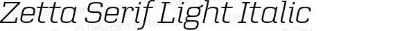 Zetta Serif Light Italic