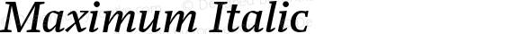 Maximum-Italic