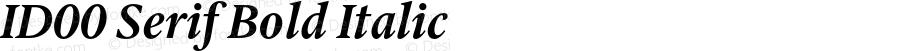 ID00 Serif Bold Italic Version 1.001