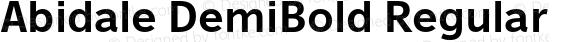 Abidale DemiBold Regular preview image