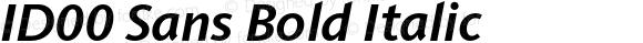 ID00 Sans Bold Italic Version 1.001