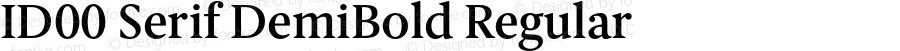 ID00 Serif DemiBold Regular Version 1.001