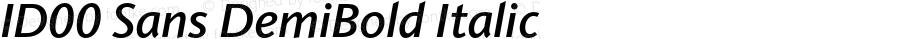 ID00 Sans DemiBold Italic Version 1.001