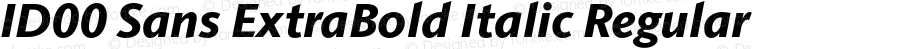 ID00 Sans ExtraBold Italic Regular Version 1.001