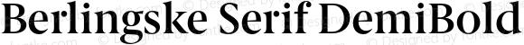 Berlingske Serif DemiBold DemiBold