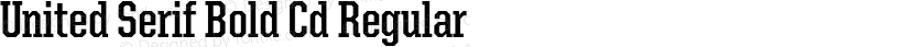 United Serif Bold Cd Regular Preview Image