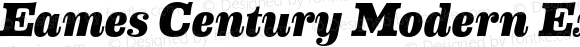 Eames Century Modern Extra Bold Italic