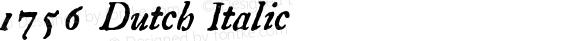 1756 Dutch Italic