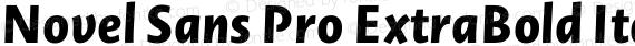 Novel Sans Pro ExtraBold Italic preview image