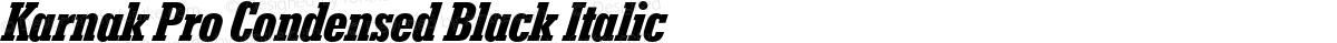 Karnak Pro Condensed Black Italic