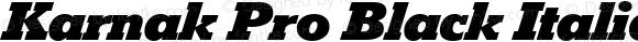 Karnak Pro Black Italic
