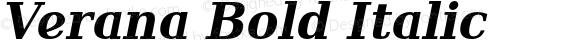 Verana Bold Italic