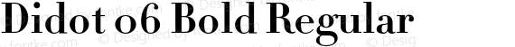 Didot 06 Bold Regular preview image