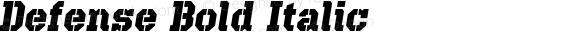 Defense Bold Italic