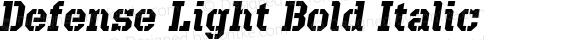 Defense Light Bold Italic