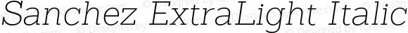 Sanchez ExtraLight Italic