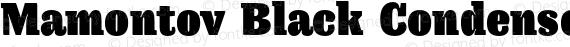 Mamontov Black Condensed Regular preview image
