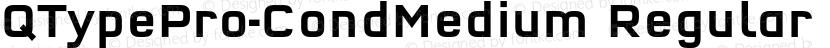 QTypePro-CondMedium Regular Preview Image