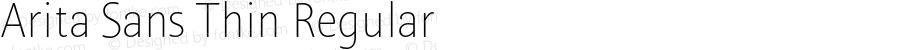 Arita Sans Thin Regular Version 1.000;PS 001.000;hotconv 1.0.56;makeotf.lib2.0.21325
