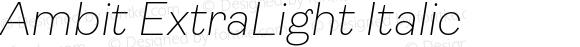 Ambit ExtraLight Italic