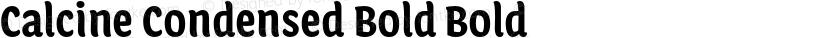 Calcine Condensed Bold Bold Preview Image