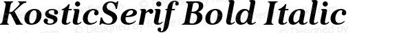KosticSerif Bold Italic