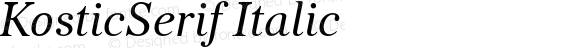 KosticSerif Italic