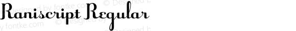 Raniscript Regular