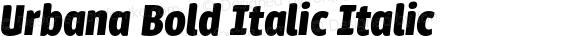 Urbana Bold Italic Italic