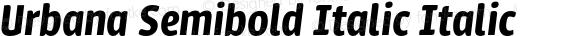 Urbana Semibold Italic Italic