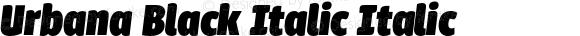 Urbana Black Italic Italic