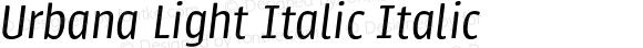 Urbana Light Italic Italic