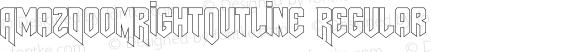 AmazDooMRightOutline Regular Version 1.00 November 28, 2009, initial release