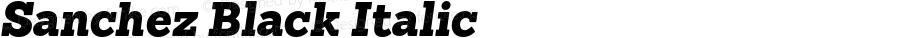 Sanchez Black Italic Version 001.000
