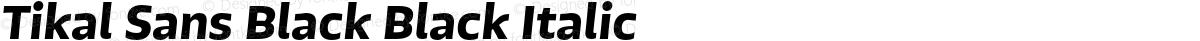Tikal Sans Black Black Italic