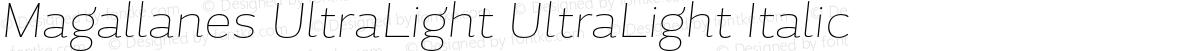 Magallanes UltraLight UltraLight Italic