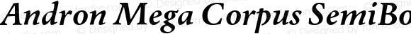 Andron Mega Corpus SemiBold Italic