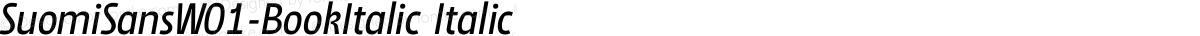 SuomiSansW01-BookItalic Italic