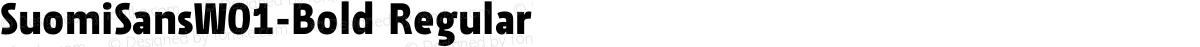 SuomiSansW01-Bold Regular