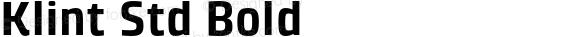 Klint Std Bold