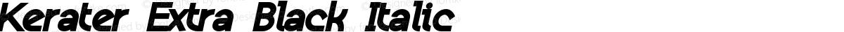 Kerater Extra Black Italic