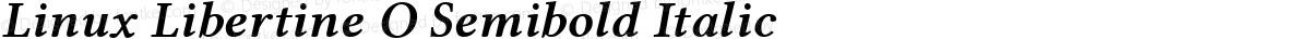 Linux Libertine O Semibold Italic