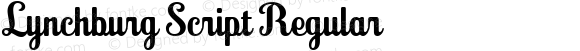 Lynchburg Script Regular Version 1.902