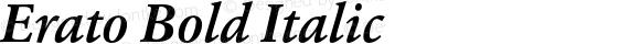 Erato Bold Italic