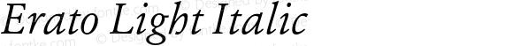 Erato Light Italic
