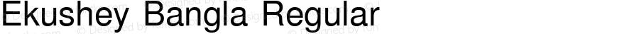 Ekushey Bangla Regular Version 1.0