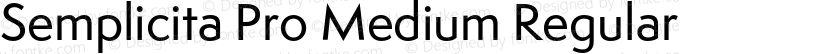 Semplicita Pro Medium Regular Preview Image
