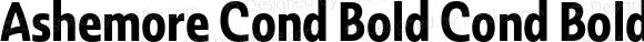 Ashemore Cond Bold Cond Bold