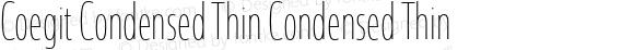 Coegit Condensed Thin Condensed Thin